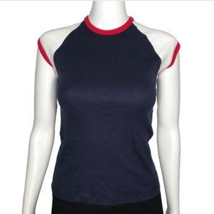 Vintage American Apparel Blue Ringer Shirt S M L